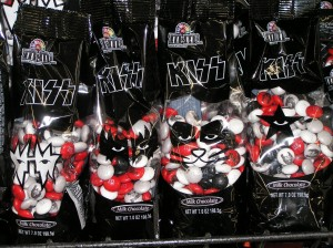 The Four Different Packages of KISS M&M's