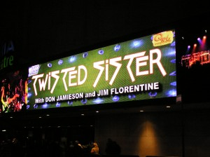 The Marquee announces this evening's show.