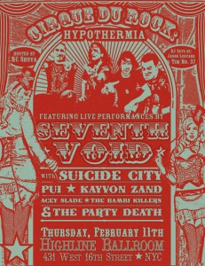 The Flyer for this Cirque du Rock Show