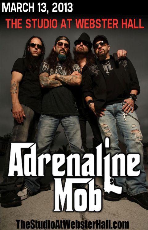 Poster - Adrenaline Mob at Studio - 2013