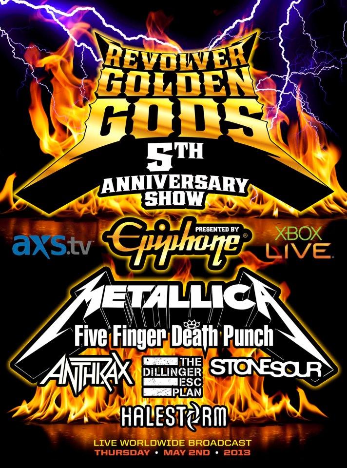 Poster - Revolver Golden Gods - 2013
