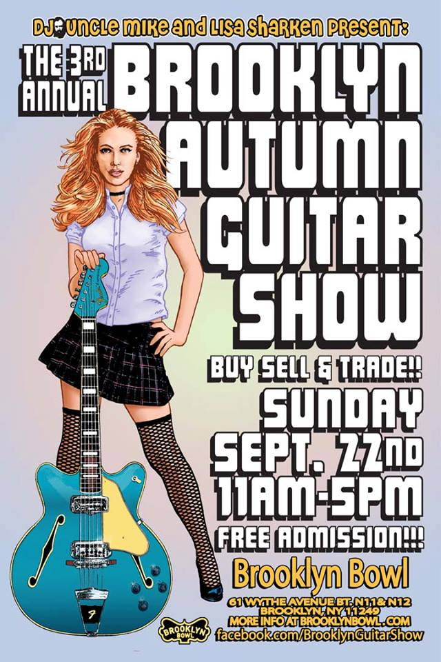Poster - Brooklyn Autumn Guitar Show - 2013