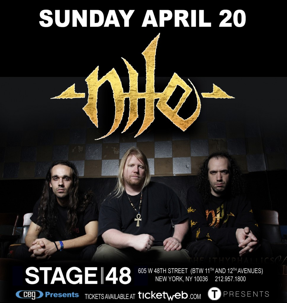 Poster - Nile at Stage 48 - 2014