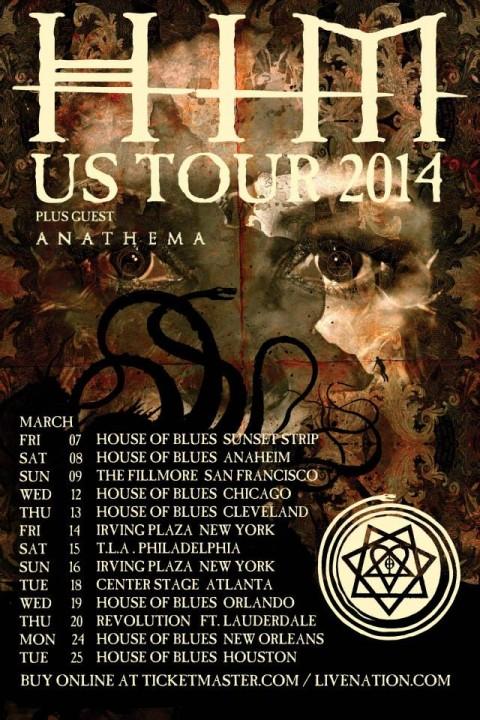 Tour - HIM - US Tour 2014