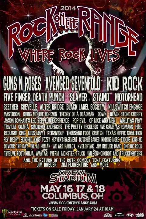 Tour - Rock On The Range - 2014