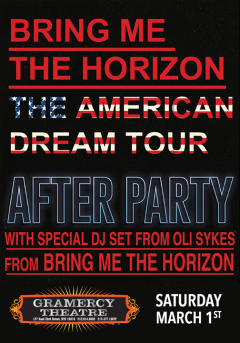 Poster - BMTH Party at Gramercy - 2014