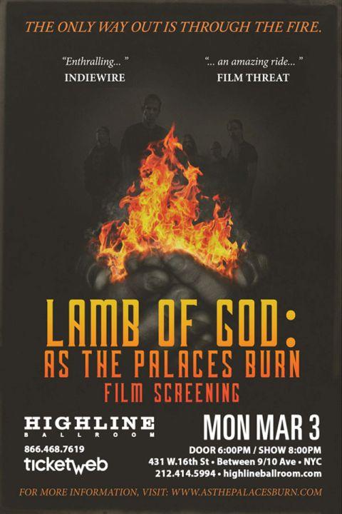 Screening - Lamb Of God at Highline Ballroom - 2014