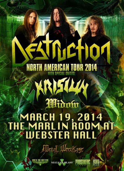 Poster - Destruction at Marlin Room - 2014