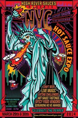 Poster - NYC Hot Sauce Expo - 2014