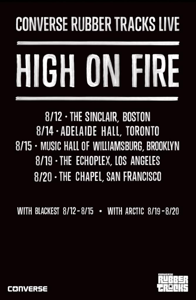 Tour - High On Fire - Converse 2014
