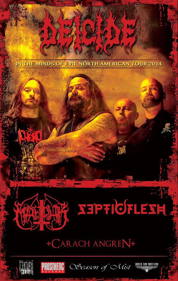 Tour - Deicide - Fall 2014