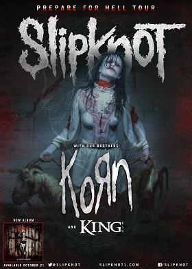 Tour - Slipknot - Winter 2014