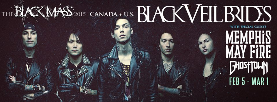 Tour - Black Veil Brides - 2015