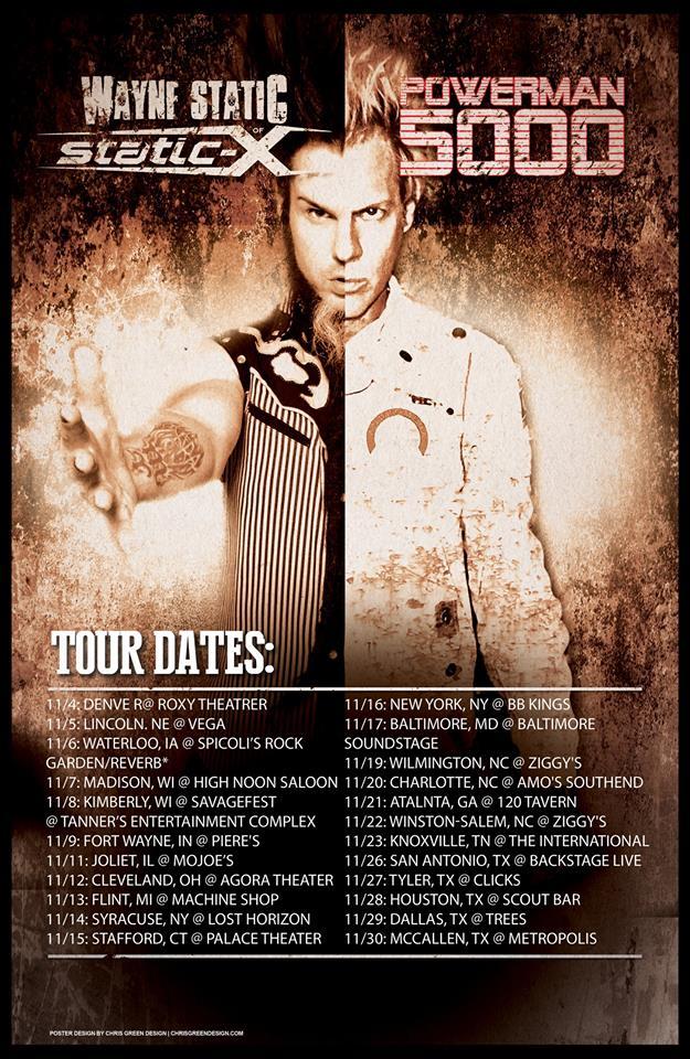 Tour - Wayne Static - PM5K - 2014