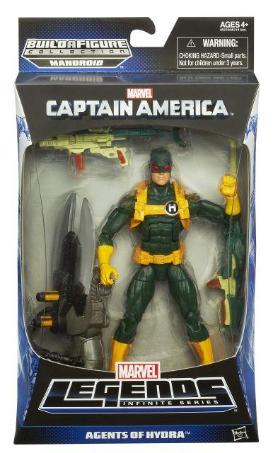 CAPTAIN AMERICA 6In INFINITE LEGENDS HYDRA SOLDIER FIGURE In Pack A62231990 SWAP