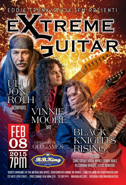 Poster - Extreme Guitar at BB Kings - 2015