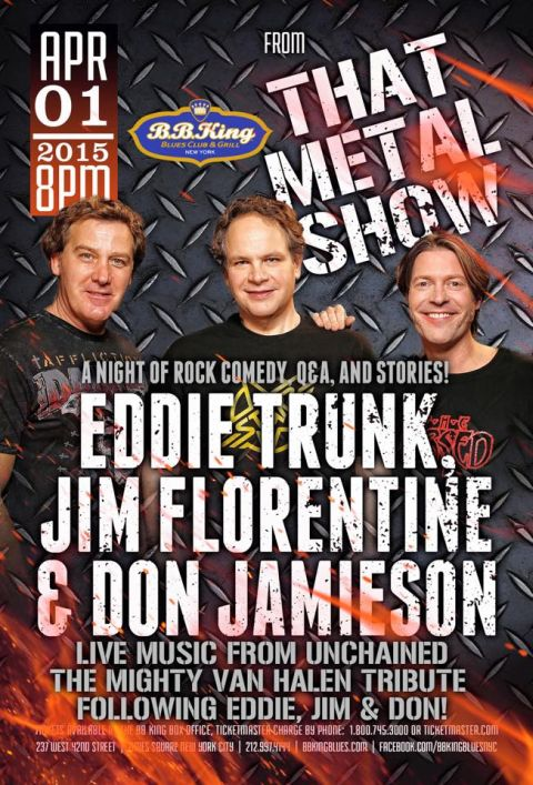 Poster - Eddie Trunk at BB Kings - 2015