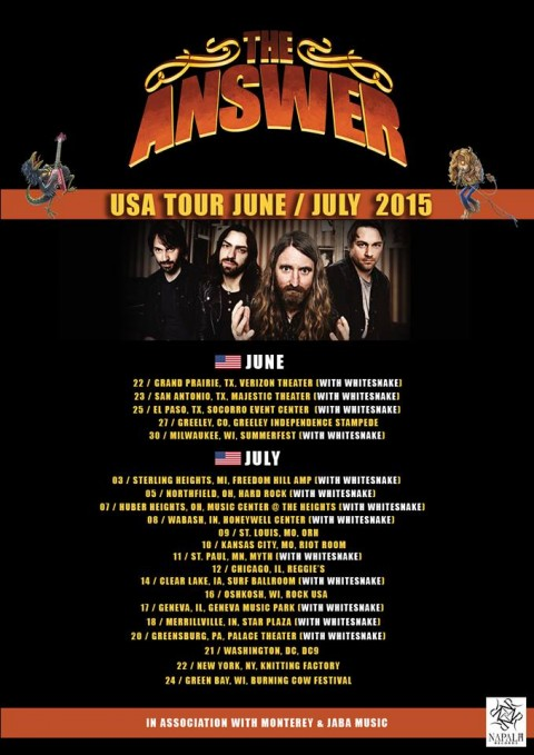 Tour - The Answer - Summer 2015