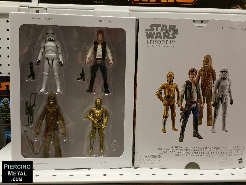 star wars, star wars action figures, hasbo toys, star wars collectors sets, star wars commemorative collection
