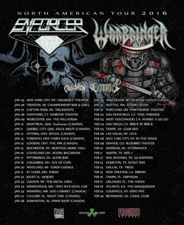 Tour - Warbringer and Enforcer - 2016