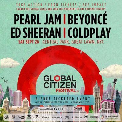 Poster - Global Citizen Festival - 2015
