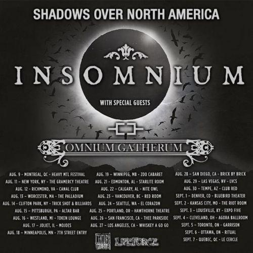 Tour - Insomnium - Summer 2015