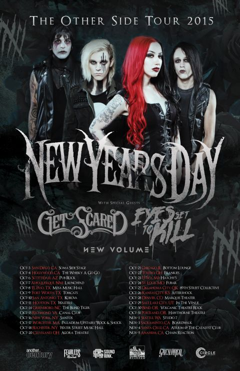 Tour - New Years Day - 2015