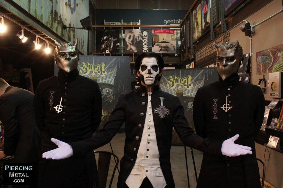 ghost, ghost album signing, nameless ghouls, papa emeritus iii