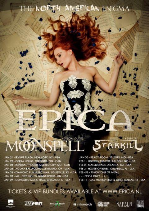 Tour - Epica - Enigma 2016