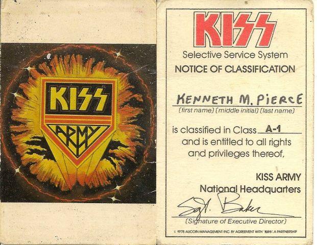 Card - KISS Army Member