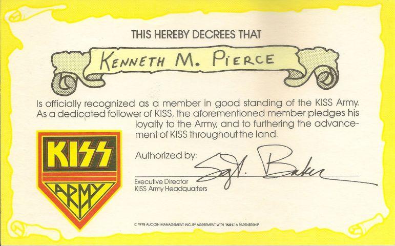 Photo - KISS Army Membership
