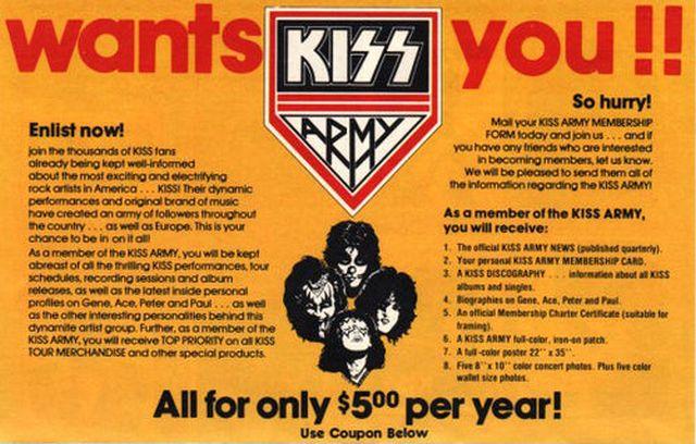 Photo - KISS Army Recruitment Form