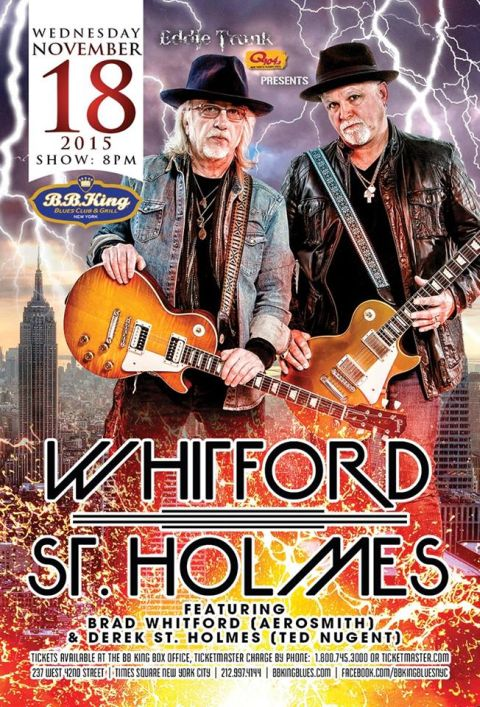 Poster - Whitford St Holmes at BB Kings - 2015