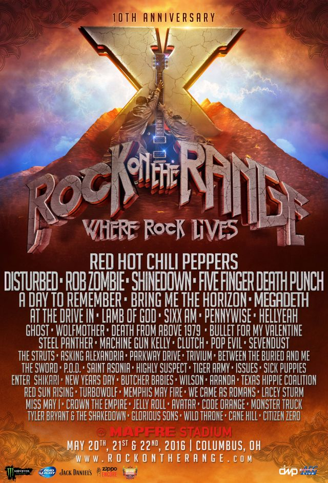 Tour - Rock On The Range - 2016
