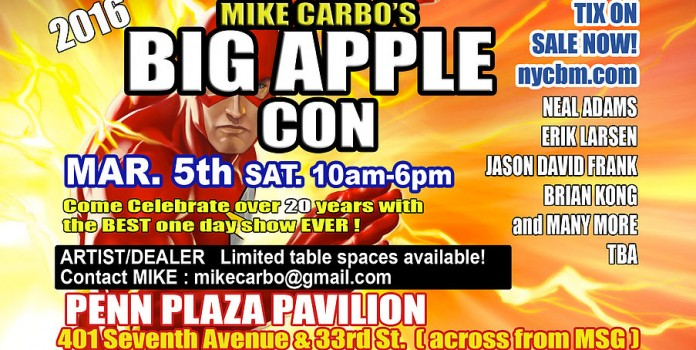 Banner - Big Apple Comic Con - 2016