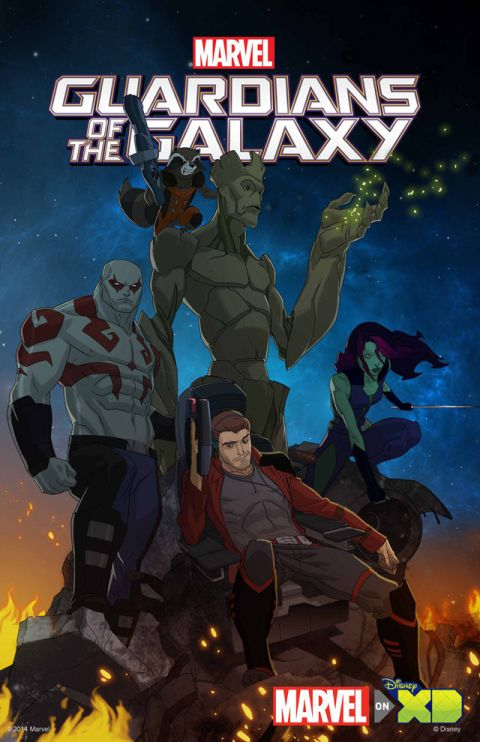 Poster - Guardians Of The Galaxy - Animated