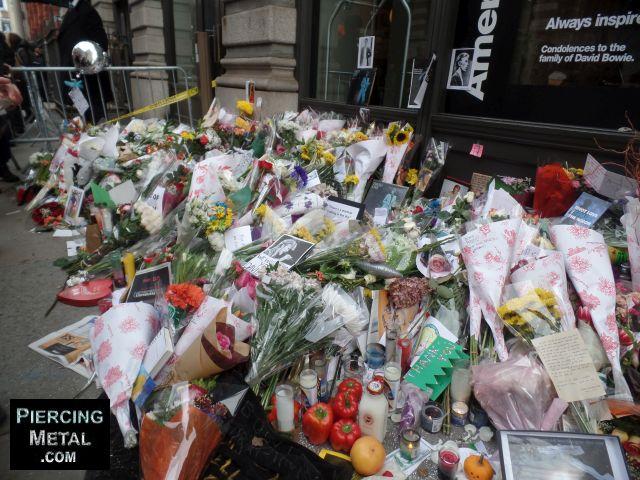 david bowie memorials, david bowie tributes