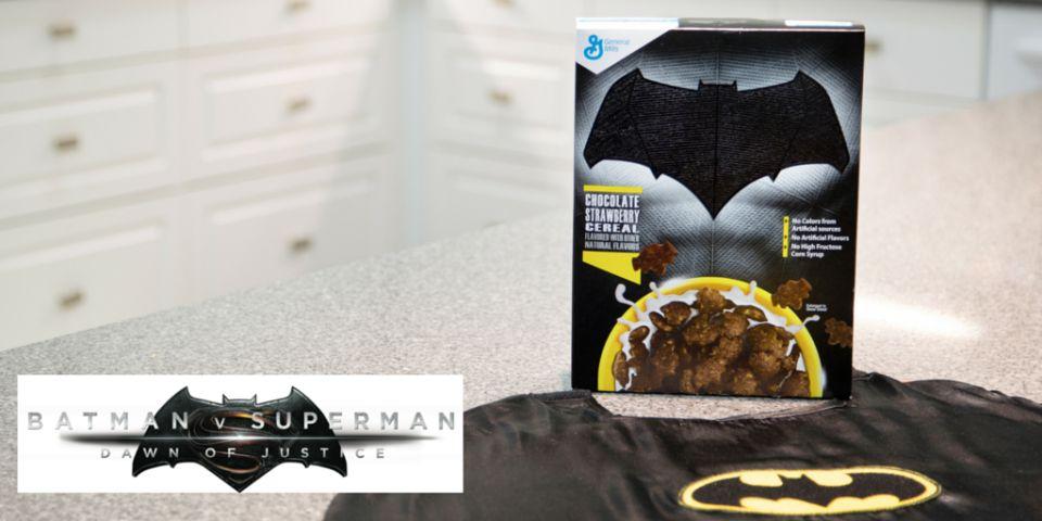 Photo - BvS Cereal - Batman