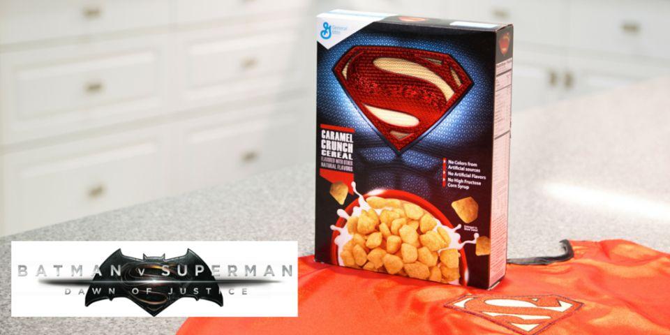 Photo - BvS Cereal - Superman