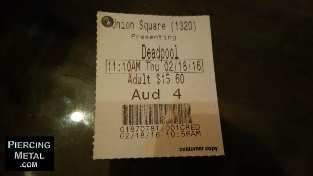 deadpool movie ticket, movie tickets, deadpool,
