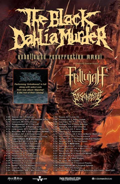 Tour - Black Dahlia Murder - Spring 2016
