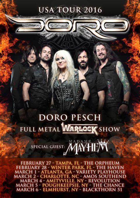 Tour - Doro - 2016
