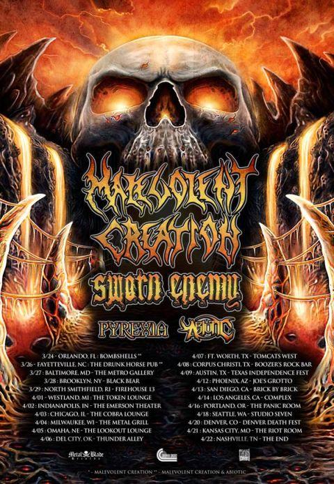 Tour - Malevolent Creation - 2016
