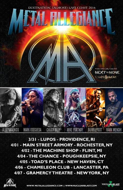 Tour - Metal Allegiance - Spring 2016