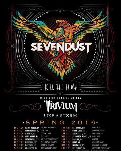 Tour - Sevendust - Spring Tour - 2016