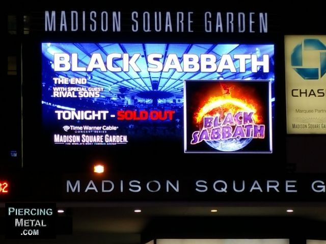 madison square garden, black sabbath, sold out show