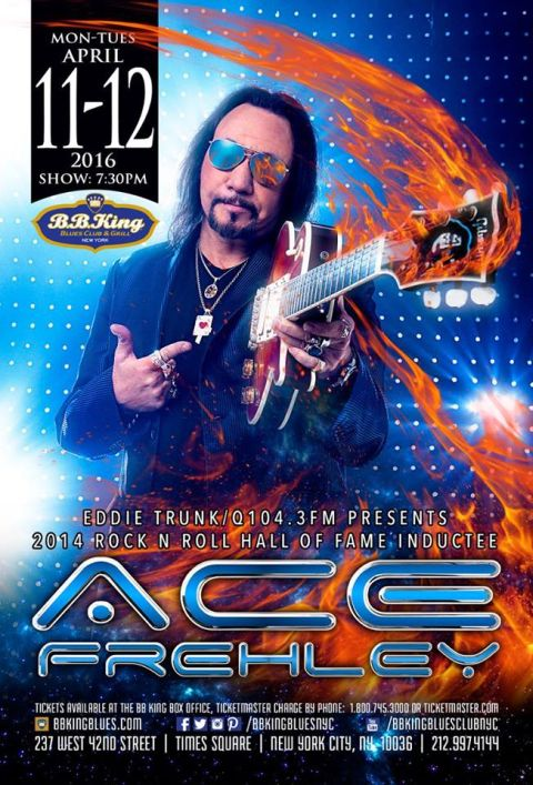 Poster - Ace Frehley at BB Kings - 2016