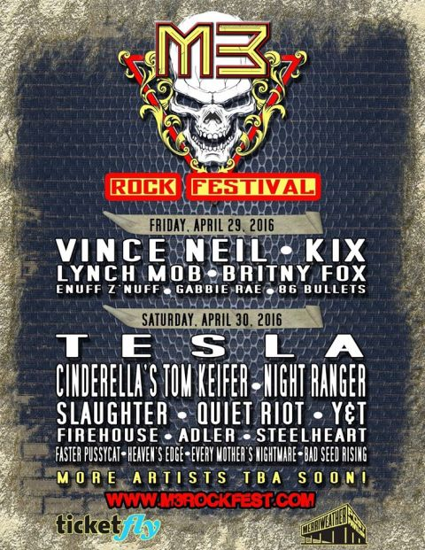 Poster - M3 Rock Festival - 2016