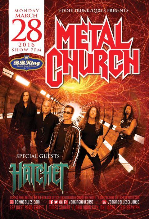 Poster - Metal Church at BB Kings - 2016