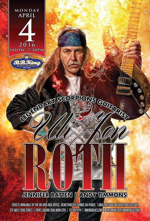 Poster - Uli Jon Roth at BB Kings - 2016